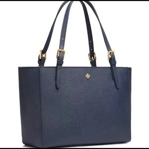 Tory Burch Emerson Saffiano Leather Buckle Tote